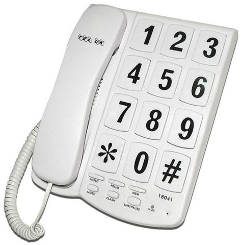 Tel UK 18041W Big Button Telephone Yorker|Mountable|Mute-Flash Function|White| Thumbnail 2