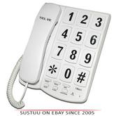 Tel UK 18041W Big Button Telephone Yorker|Mountable|Mute-Flash Function|White|