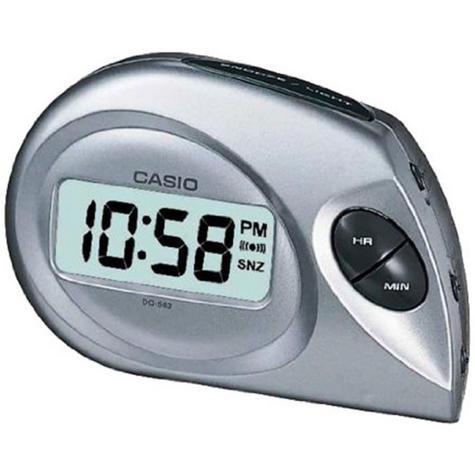 Casio DQ-583-8EF Digital Beep Alarm Clock|LED|Snooze|12/24 Display|Silver - NEW Thumbnail 1