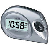 Casio DQ-583-8EF Digital Beep Alarm Clock|LED|Snooze|12/24 Display|Silver - NEW