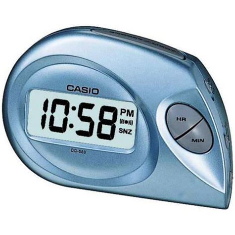 Casio DQ-583-2EF Digital Beep Alarm Clock|LED|Snooze|12/24 Display|Blue - NEW Thumbnail 1