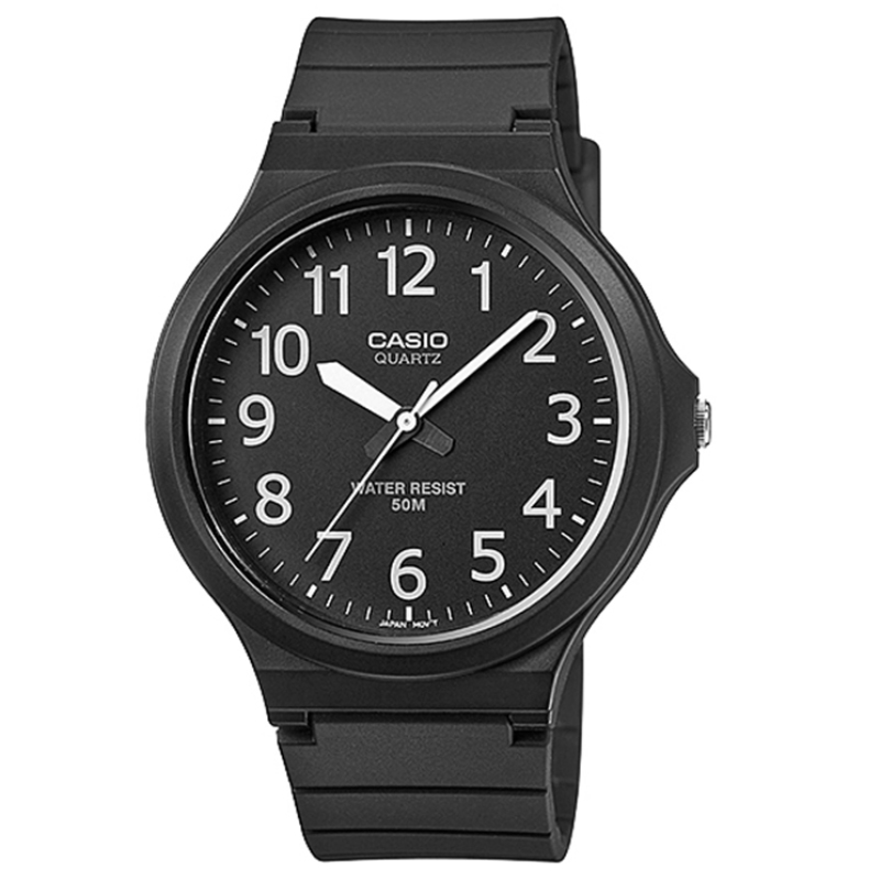 Casio MW-240-1BVEF Mens Analogue Watch|Resin Strap|50M Water Resistant|Black|New|