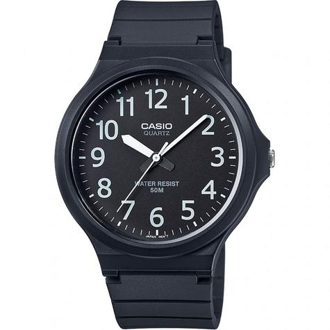 Casio MW-240-1BVEF Mens Analogue Watch Resin Strap 50M Water Resistant Black New  Thumbnail 1