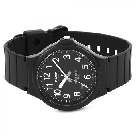Casio MW-240-1BVEF Mens Analogue Watch Resin Strap 50M Water Resistant Black New  Thumbnail 4