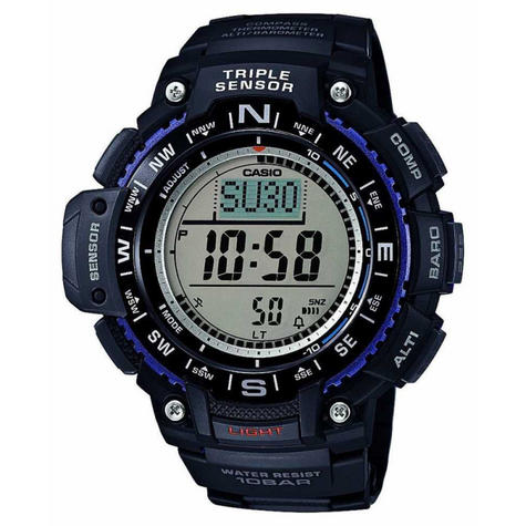 Casio SGW1000-1AER Wrist Watch|Triple Sensor|Digital Compass|World Time|Black| Thumbnail 1