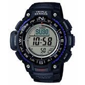 Casio SGW1000-1AER Wrist Watch|Triple Sensor|Digital Compass|World Time|Black|