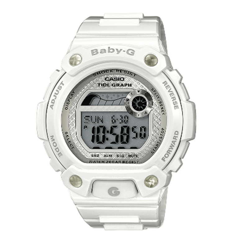Casio BLX100-7ER Baby-G Watch|Yacht Timer Function|Shock & Water Resist|White|