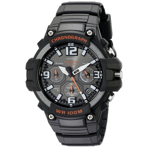 Casio MCW-100H-1AVEF Men Sport Chronograph Watch|Quartz Movement|Timepiece|Black Thumbnail 1