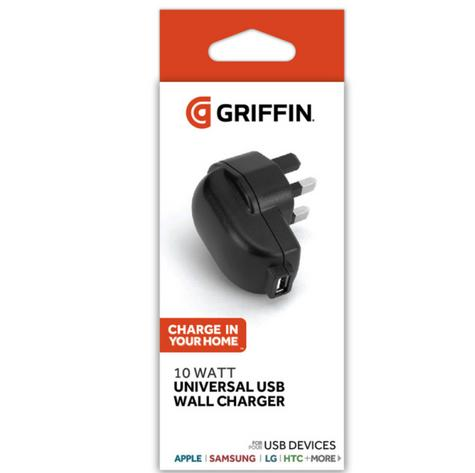 Griffin GC42507 Universal USB Wall Charger|2.1A|10W|Apple|Samsung|LG|HTC|Black| Thumbnail 2