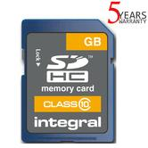 Integral 8GB Secure Digital (SD) Card | 20MB/s Speed | SDHC Class 10 | INSDH8G10 | NEW
