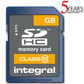 Integral 4GB Secure Digital (SD) Card?SDHC Class 10 | 20MB/s Speed | 5 Year Warranty