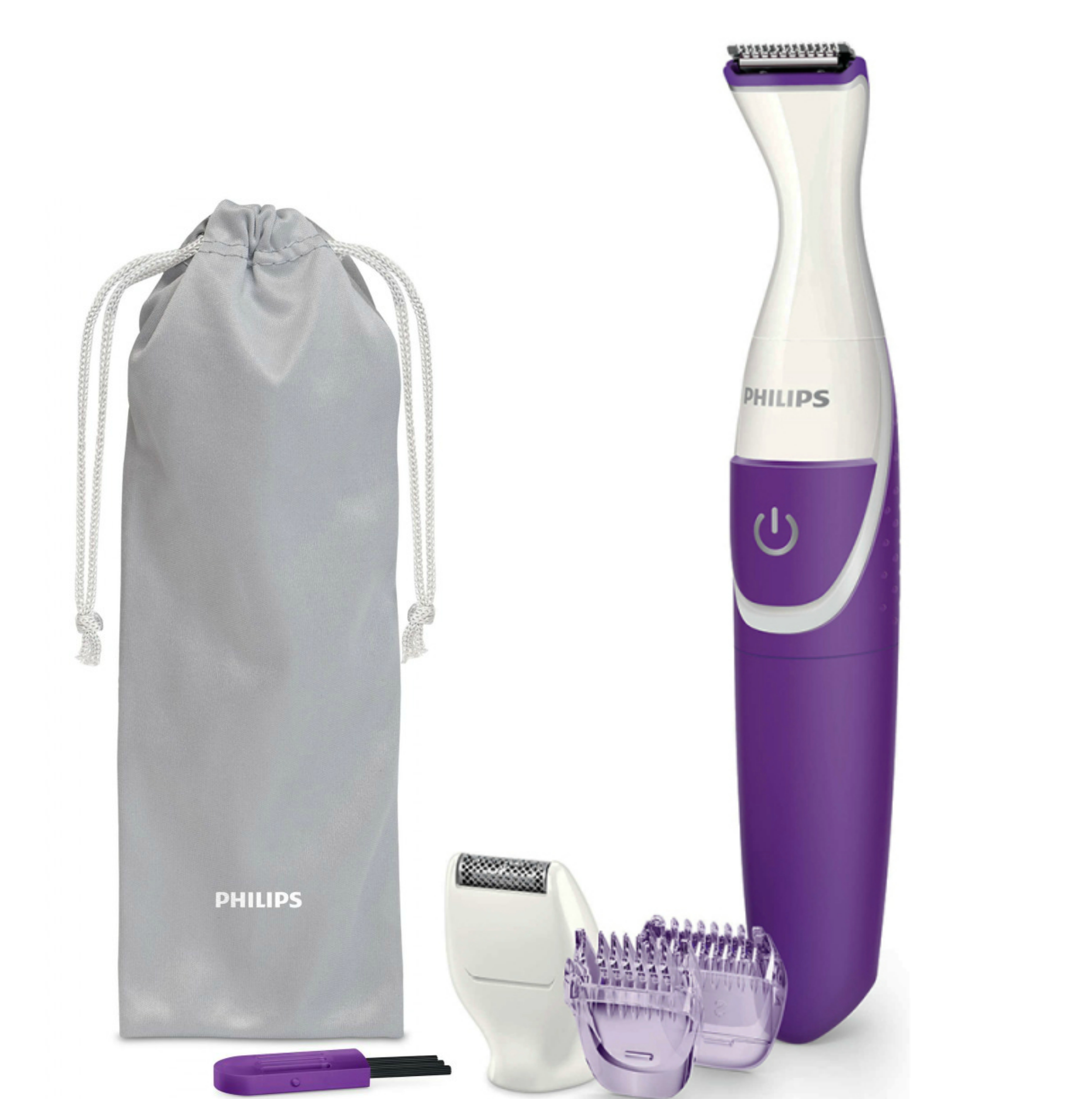 Philips BRT383/15 Ladies Bikini Genie Easy Hair Trimmer/Shaver|Wet & Dry|Purple