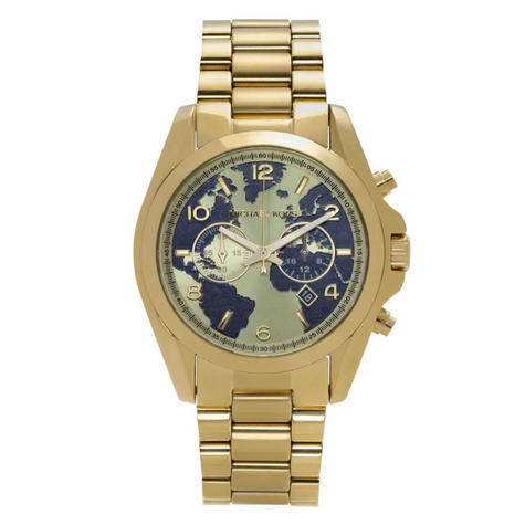 Michael Kors Hunger Stop Bradshaw Watch|Round Dial|Gold Tone Bracelet Band|6272 Thumbnail 1