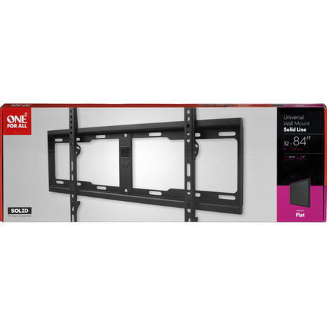 One For All WM4611 Wall Mount for 32-84 inch TV Bracket Flat Solid Series-Black Thumbnail 3