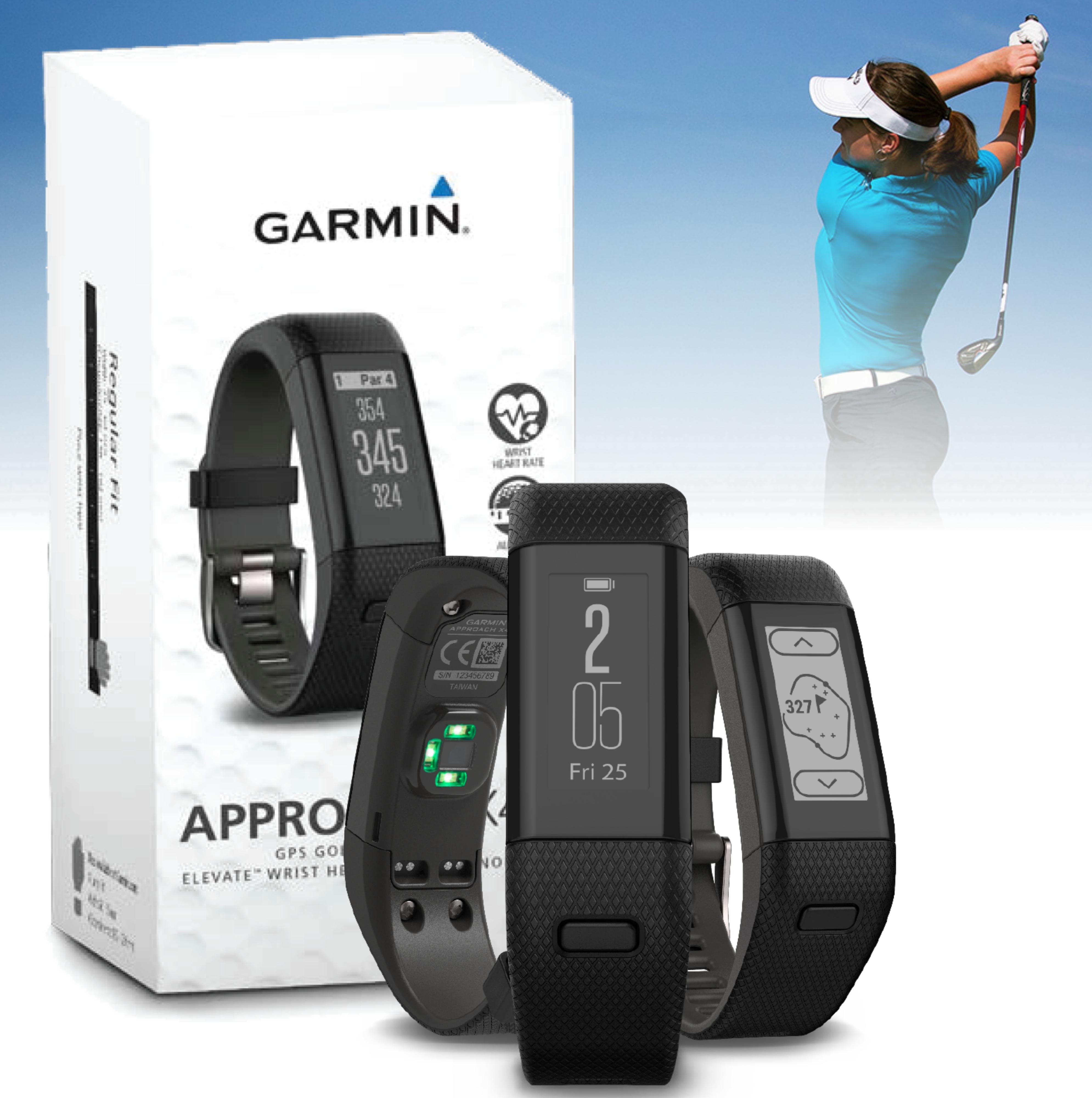 Garmin Approach X40|GPS Golf Watch|Elevate wrist Heart Rate-Activity Tracker|BL
