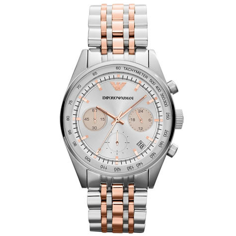 Emporio Armani Sportivo Ladies Watch Chronograph Dial Dual Tone Bracelet AR6010 Thumbnail 1