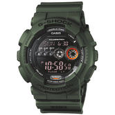 Casio GD100MS-3ER G-Shock Watch|Display Flasher|Resin Strap|Water Resist|Green|