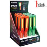 Infapower 1 Watt COB LED Penlight (Pack of 12) | Strong Rubber Coated Body | F038