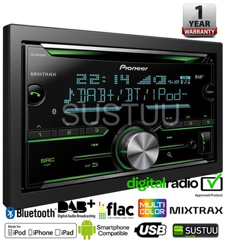Pioneer In Car Stereo-Media Player?DAB+?CD?USB?Aux?Bluetooth?iPod-iPhone-Android Thumbnail 4