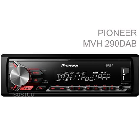 Pioneer In Car Stereo Player|DAB+ Radio|MP3|USB|Aux|iPod-iPhone-Android|Red illumination Thumbnail 1