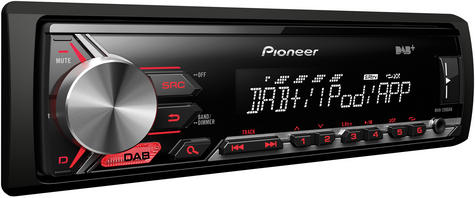 Pioneer In Car Stereo Player|DAB+ Radio|MP3|USB|Aux|iPod-iPhone-Android|Red illumination Thumbnail 4