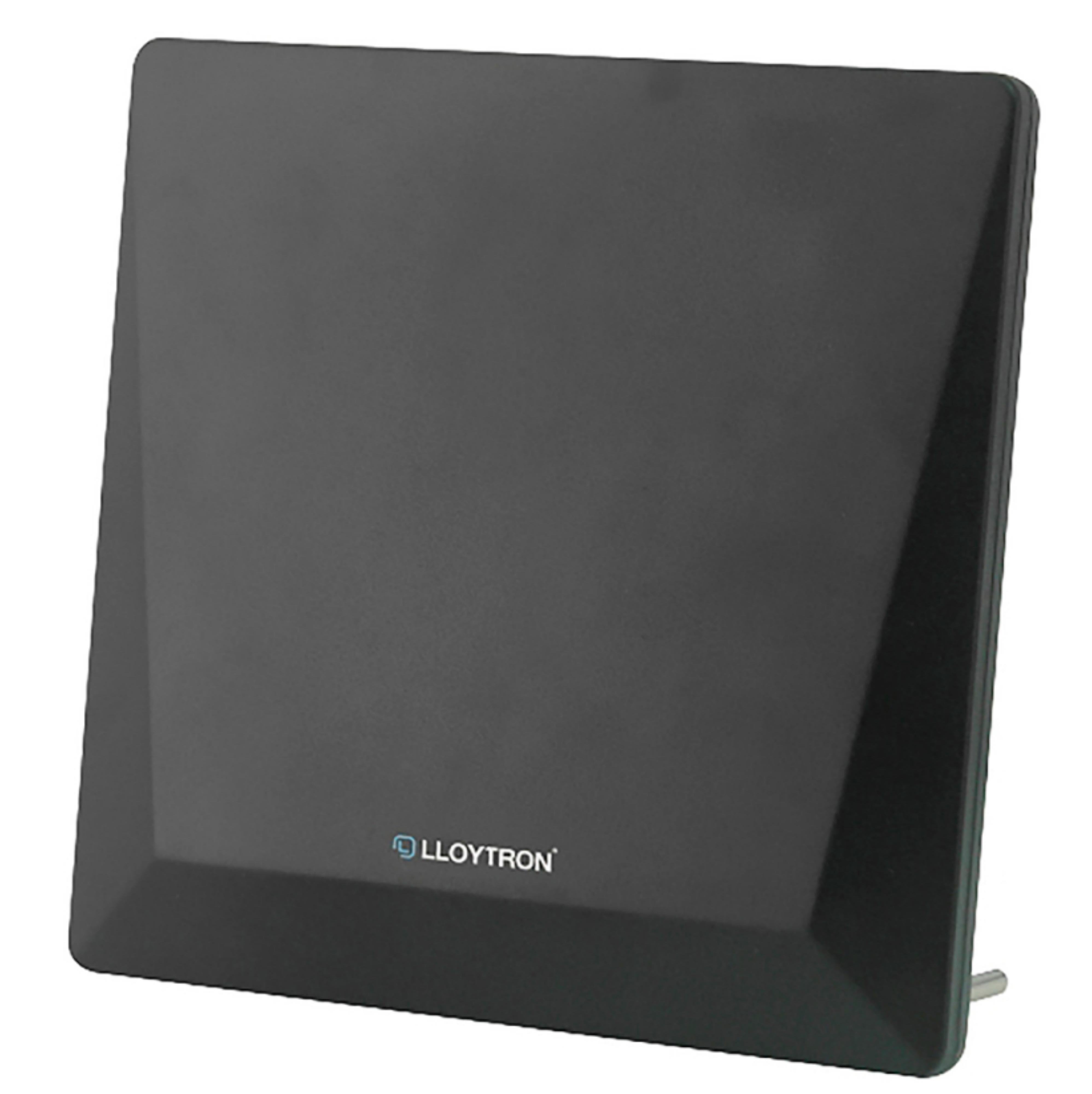Lloytron A3103BK Active Indoor Digital Panel TV Antenna With 4G Filter - 50db