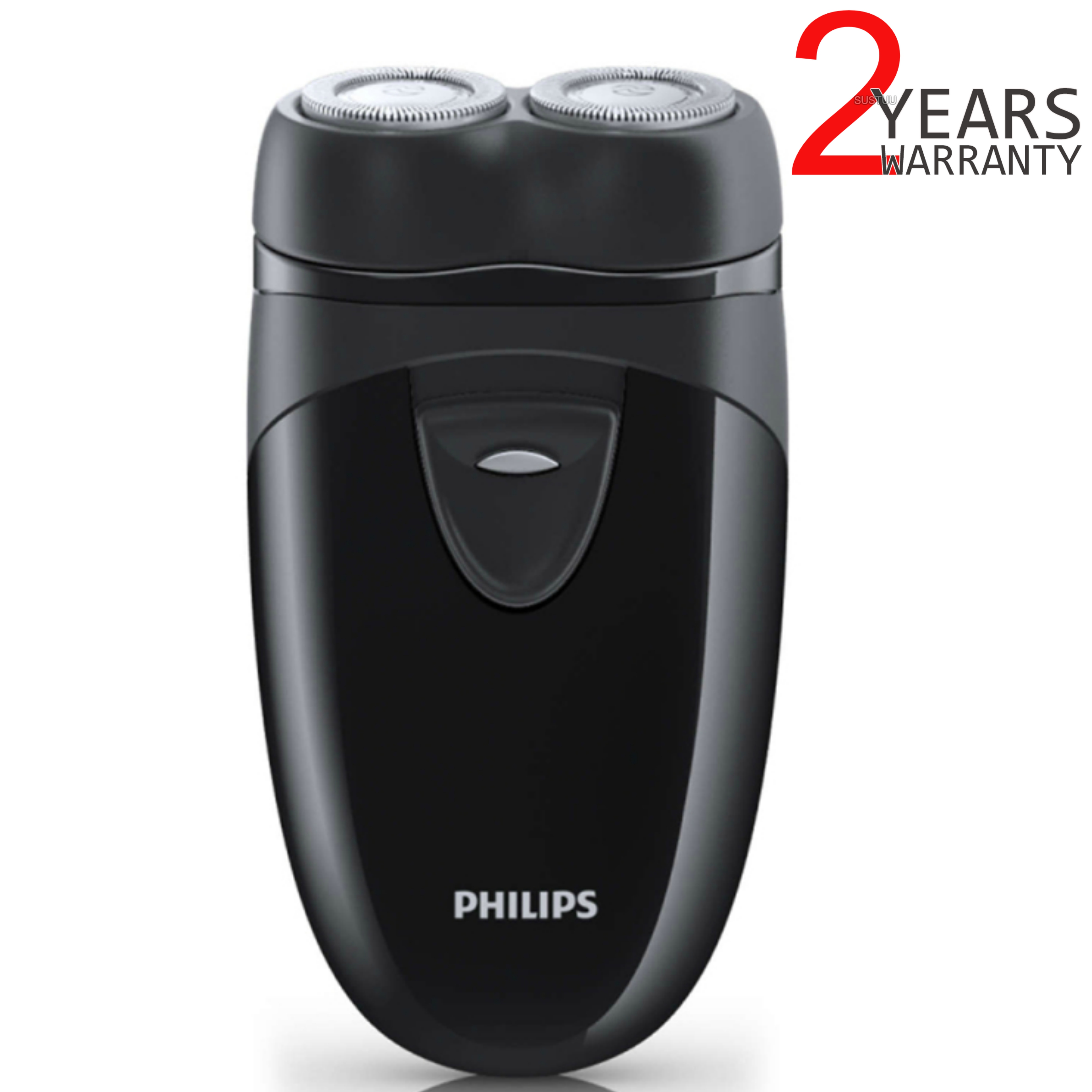 Philips Electric Travel Shaver | Twin Rotary Heads & Pouch | Cordless | PQ203/17 | Black