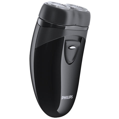 Philips Electric Travel Shaver | Twin Rotary Heads & Pouch | Cordless | PQ203/17 | Black Thumbnail 3
