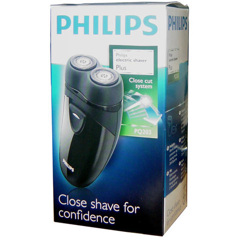 Philips Electric Travel Shaver | Twin Rotary Heads & Pouch | Cordless | PQ203/17 | Black Thumbnail 6