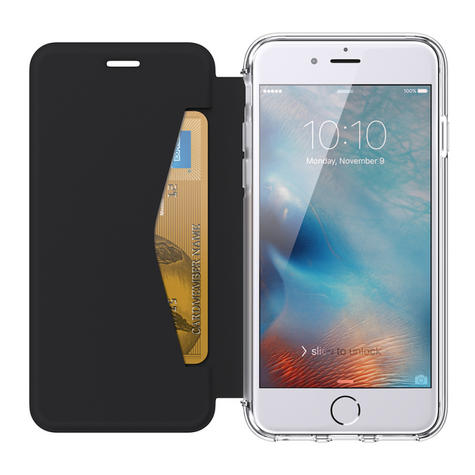 Griffin GB42753 Reveal Wallet Flip Case Cover|iPhone7|6|6S|UltraThin|Black/Clear Thumbnail 5