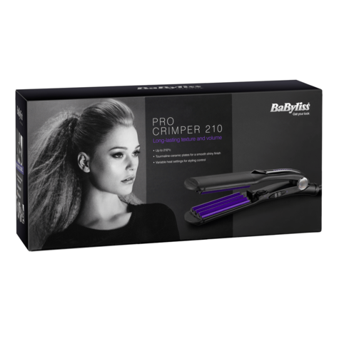Babyliss 2165BU Pro Crimper 210 | Tourmaline Ceramic Cripms Plates | 4 Heat Settings Thumbnail 3