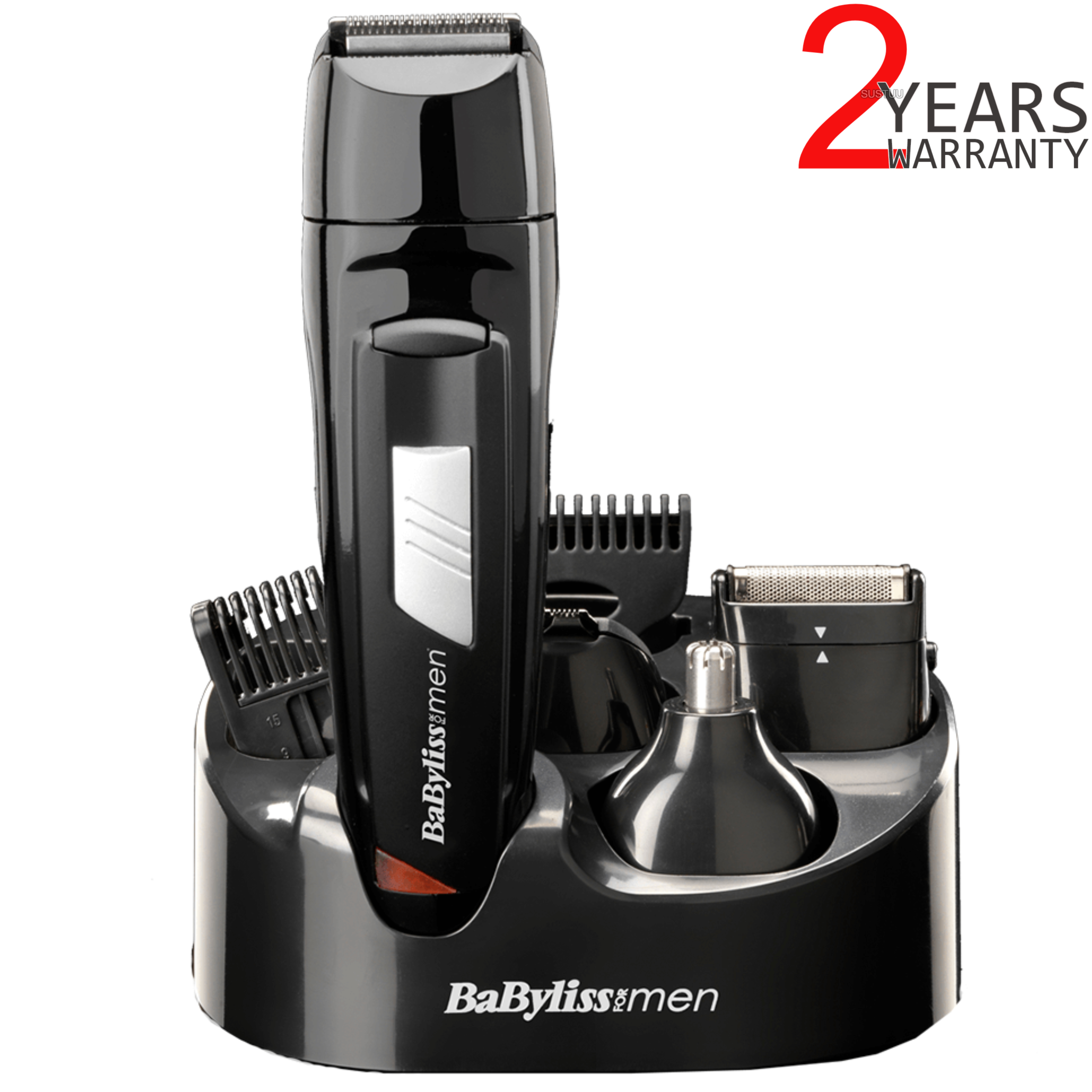 BaByliss 7056CU Rechargeable 8-in-1 All Over Grooming Shaver Clipper Kit for Men