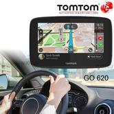 "TomTom GO 620 6"" GPS SatNav | Free Lifetime World Maps & Traffic Updates Via Wi-Fi"
