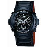 Casio AW591MS-1A G-Shock Alarm Chronograph Watch / Shockproof / Water Resist / Black /