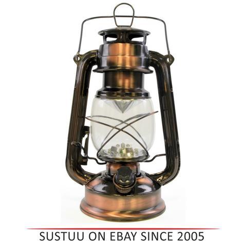 Lloytron D1201CP 15x Bright LED Storm Waterproof Lamp Lantern - Copper Finish Thumbnail 1