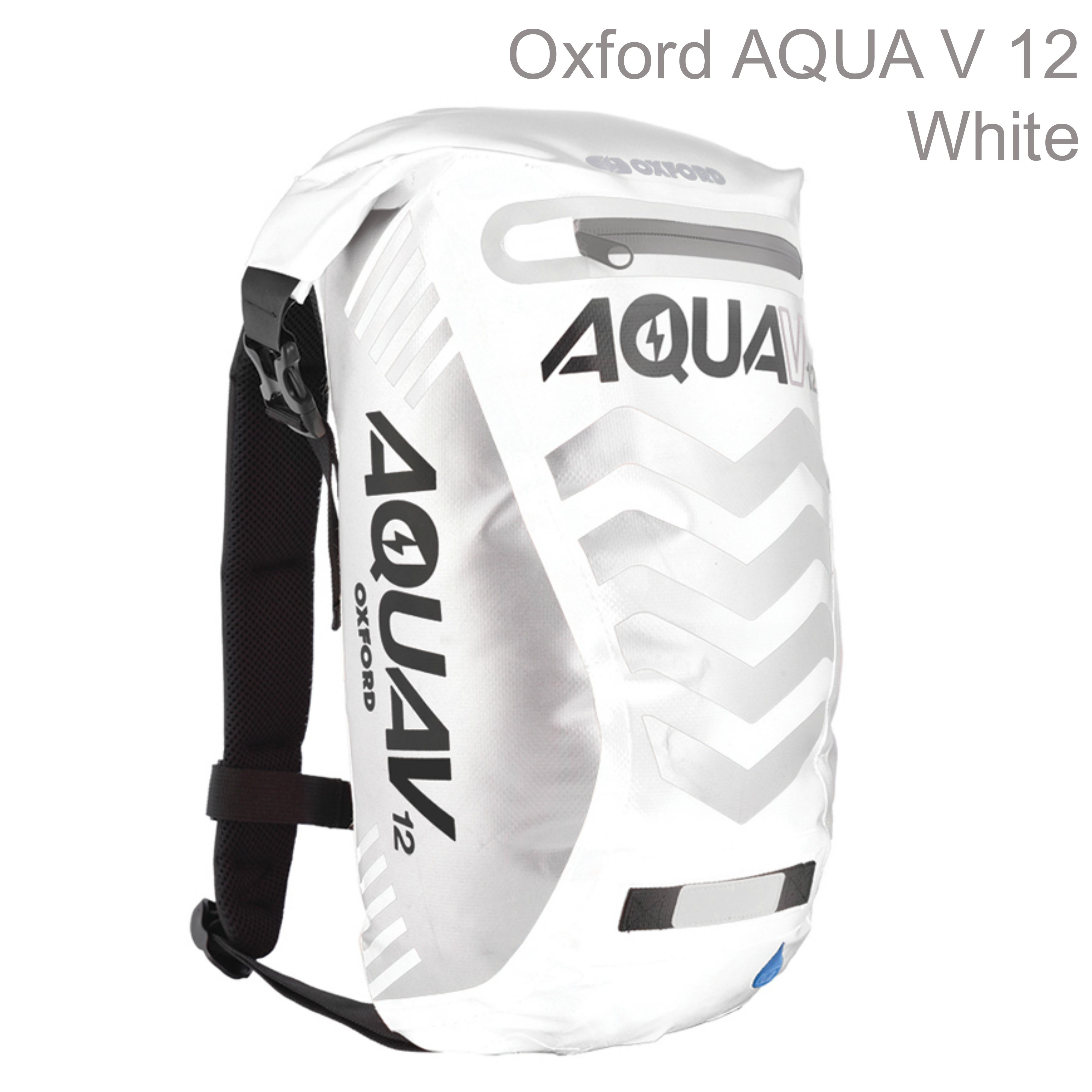 Oxford OL952 Aqua V12 Rucksack Motorbike/Cycle Backpack|Waterproof|12 Litre|White