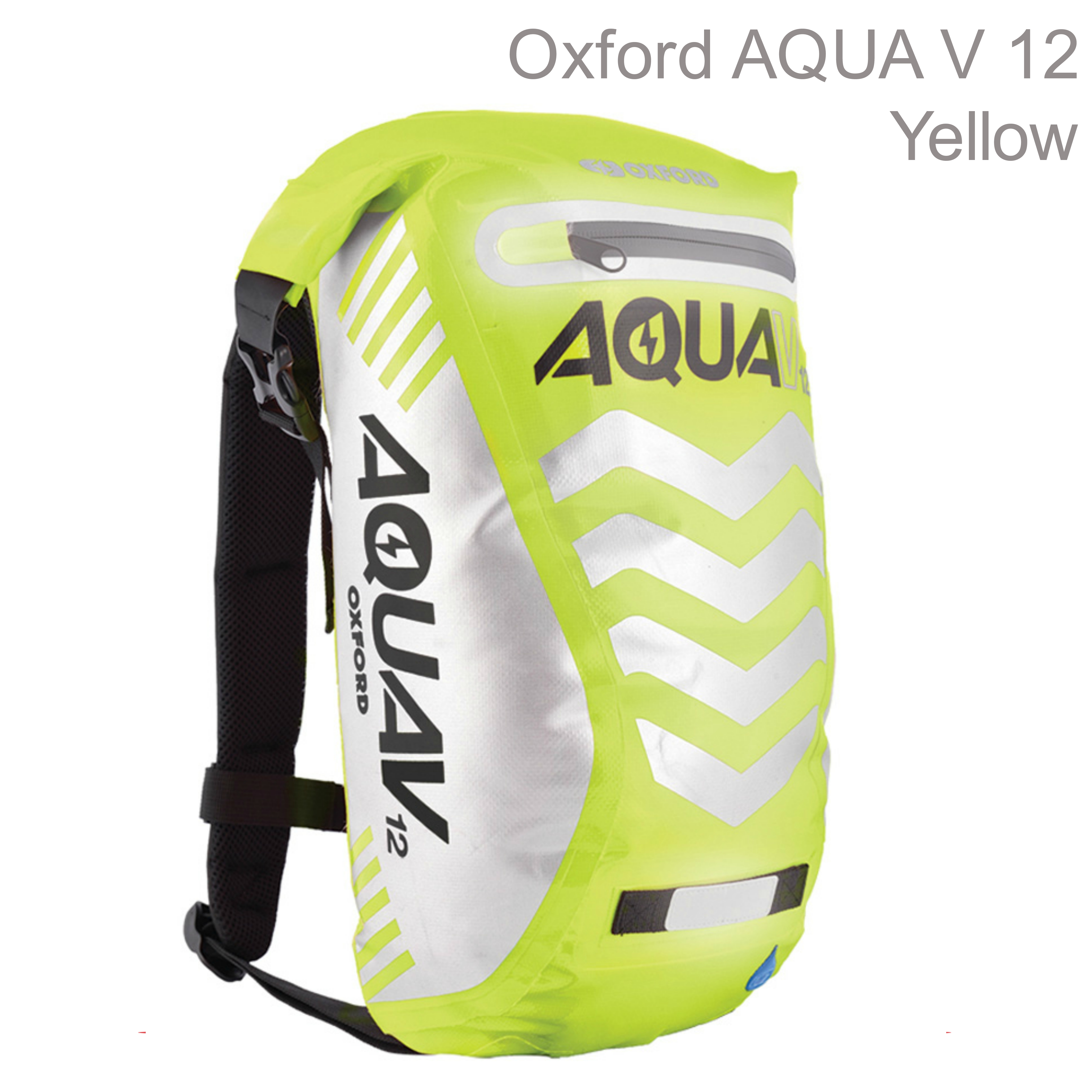 Oxford OL953 Aqua V12 Rucksack Motorbike/Cycle Backpack|Waterproof|12 Litre|Yellow