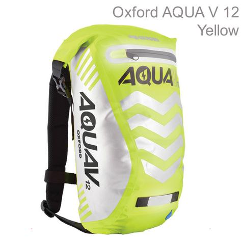 Oxford OL953 Aqua V12 Rucksack Motorbike/Cycle Backpack|Waterproof|12 Litre|Yellow Thumbnail 1