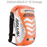 Oxford OL594 Unisex Aqua V12 Rucksack Motorbike / Cycle Backpack|Waterproof|Orange|12L