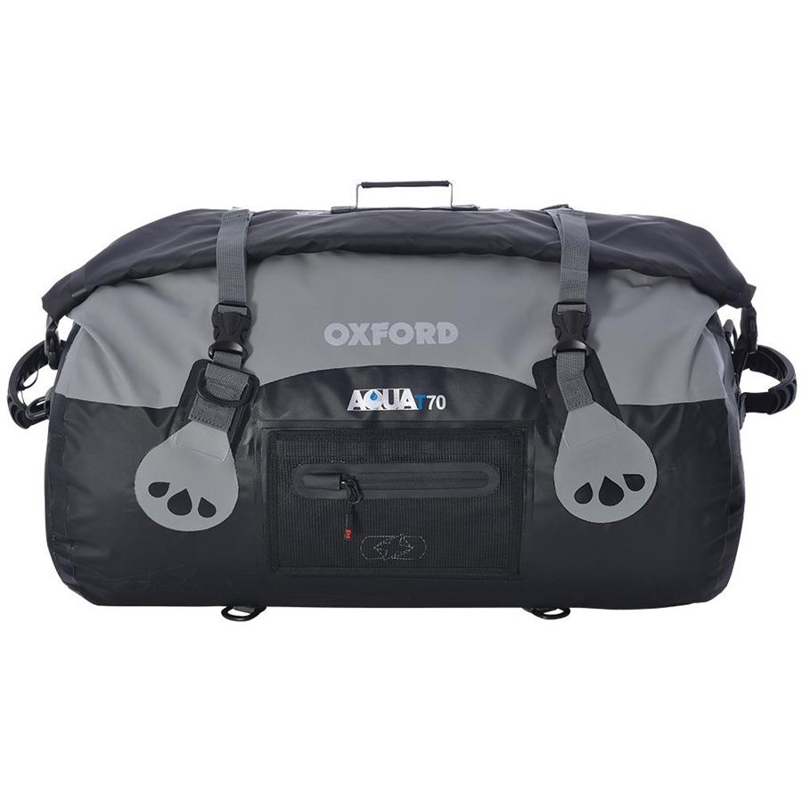 Oxford Aqua T-70 Bag Waterproof Roll Top Closure Bag|Welded SeamsAqua-Black/Grey