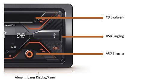 Sony CDX G1201U Car Stereo Media Player|USB/Aux/MP3/WMA|Amber Illumination|4x55W Thumbnail 3