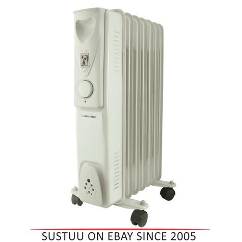 Lloytron F2602GR Staywarm 1500w 7 Fin Oil Radiator|3 Heat|Adjustable Thermostat Thumbnail 1