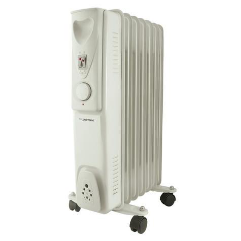 Lloytron F2602GR Staywarm 1500w 7 Fin Oil Radiator|3 Heat|Adjustable Thermostat Thumbnail 2