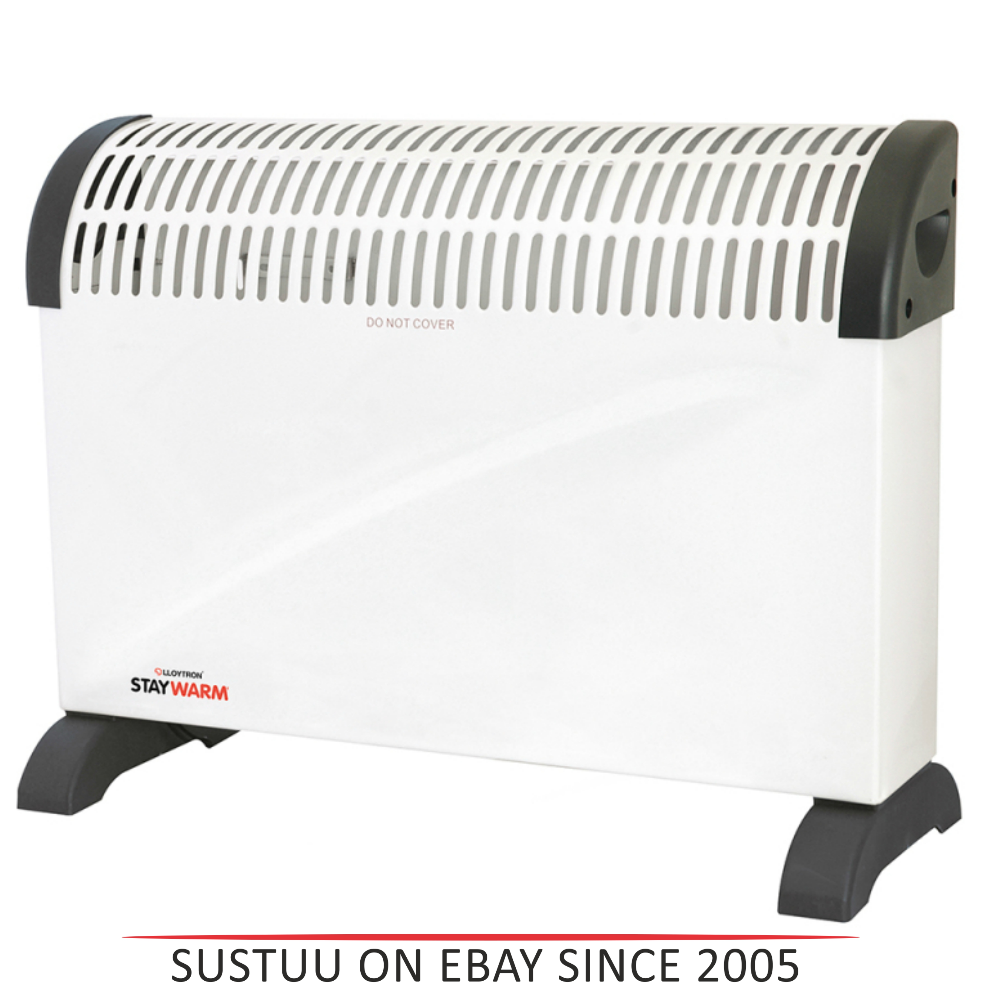 Lloytron  F2403WH Staywarm 2000w Standing Convector Heater / 3 Heat Setting / White /