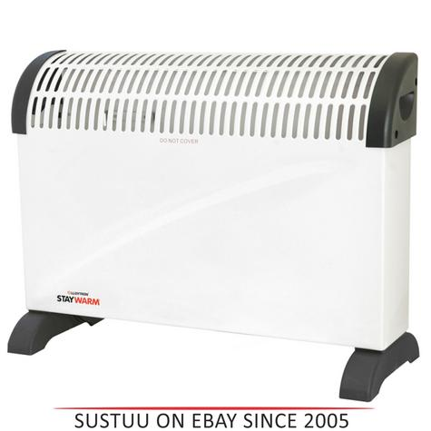 Lloytron  F2403WH Staywarm 2000w Standing Convector Heater / 3 Heat Setting / White / Thumbnail 1