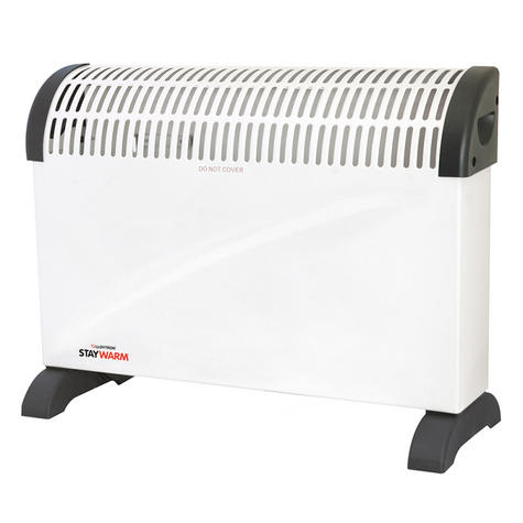 Lloytron  F2403WH Staywarm 2000w Standing Convector Heater / 3 Heat Setting / White / Thumbnail 2