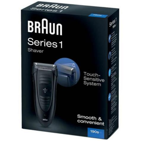 Braun 190s Series 1 Mains Rechargeable SmartFoil Precision Shaver Trimmer -Black Thumbnail 3