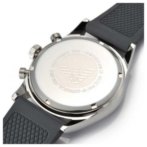 Emporio Armani Sportivo Gent's Stainless Steel Chronograph Watch AR2460 Thumbnail 2