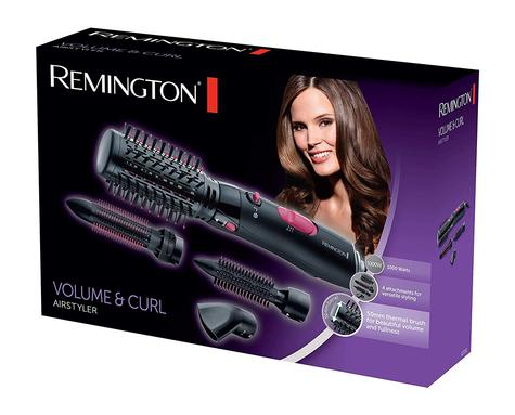 Remington AS7051 5 in 1 Volume & Curl Air Styler | 1000W Comb Brush Curler | Black Thumbnail 3