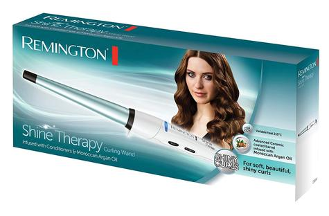 Remington CI53W Women's Shine Therapy Hair Curling Wand | Ceramic Coated Plates Thumbnail 2